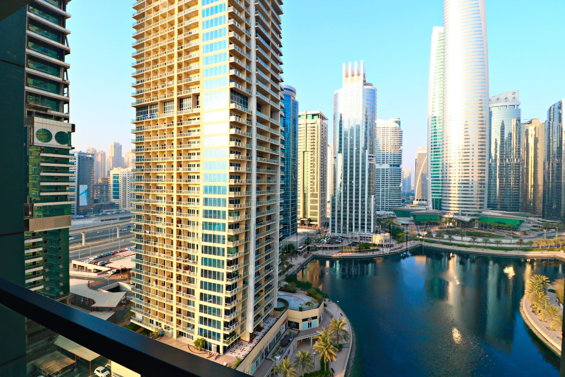 View from apartment for rent in Lakeside Residence JLT in Dubai