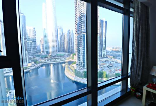 View from apartment for rent in Lakeside Residence at JLT in Dubai