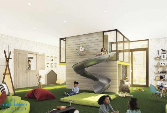 Kid's area in Belgravia Square at JVC Dubai/Ellington Group