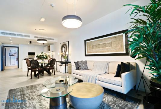 Sitting Area in Apartment for sale in Belgravia Square at JVC Dubai