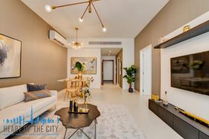 Living room in apartments for sale in Prime Views at Avenu Meydan in Dubai